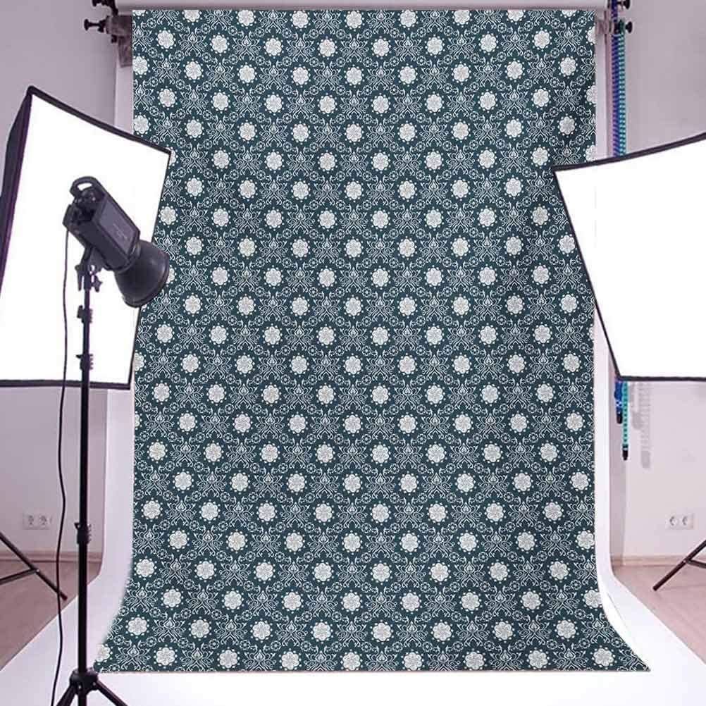 17th Birthday 8x10 FT Photo Backdrops,Sweet Seventeen with The Party Balloons with Curly Ending Image Print Background for Photography Kids Adult Photo Booth Video Shoot Vinyl Studio Props