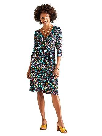 af136b418ac YUMI Ditsy Flower Print Wrap Dress  Amazon.co.uk  Clothing
