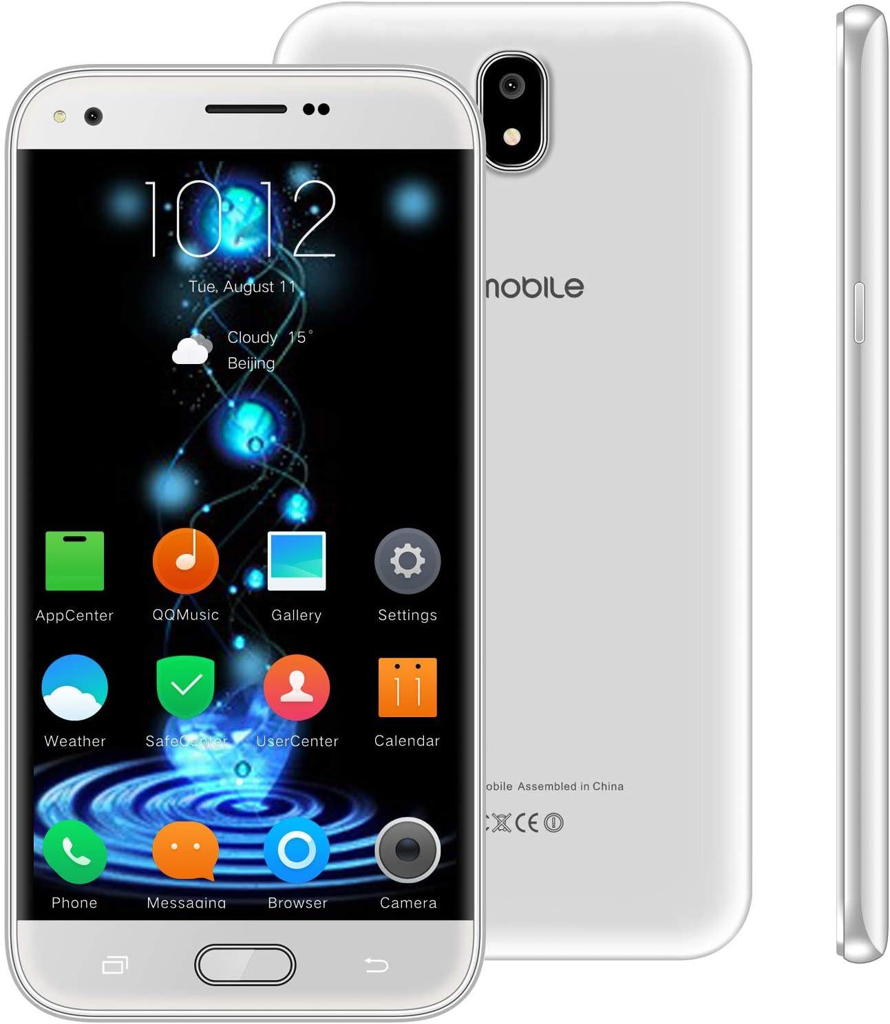 Telefono Movil Libres Baratos 4g,10Pcs V Mobile J5 5.5 Pulgadas 16GB 5MP Cámara Dual Sim Android 7,0 2800mAh Batería Smartphone 1.3GHz Quad Core (Blanco): Amazon.es: Electrónica