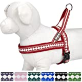Blueberry Pet Soft & Comfortable Jacquard Neoprene Padded Dog Harness, 7 Colors, Matching Collar & Leash Available Separately