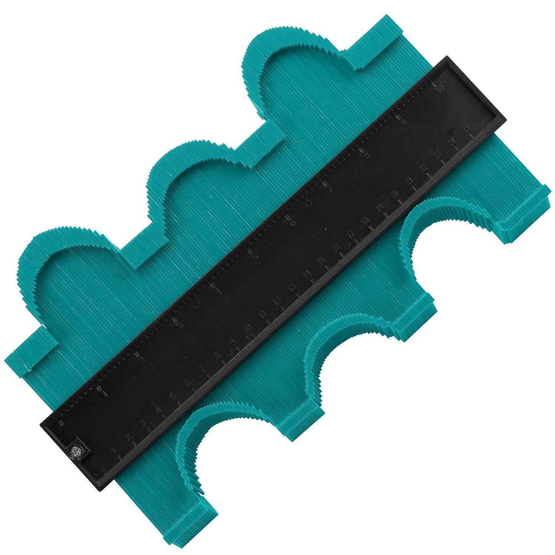 outil de copie de forme de profil large mod/èle instantan/é de copie pr/écise pour les formes irr/éguli/ères Ashine 12,7 cm et 25,4 cm Duplicateur de jauge de contour avec 2 serrures
