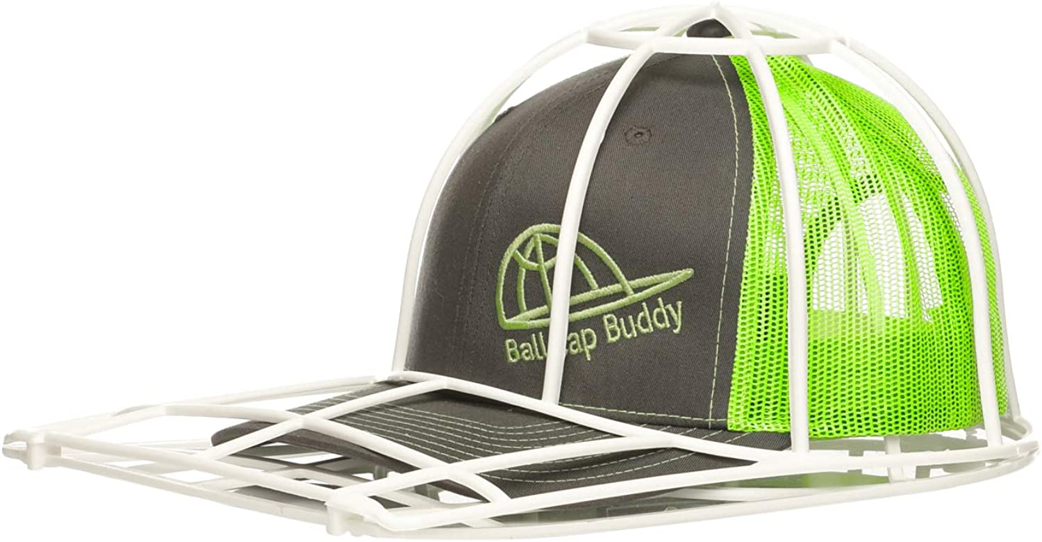 BallcapBuddy Cap Washer Hat Washer The Original Patented Baseball Cap Cleaner for Adult and Youth flatbilled and Curved Ball caps for Dishwasher and Washing Machine/Made in USA