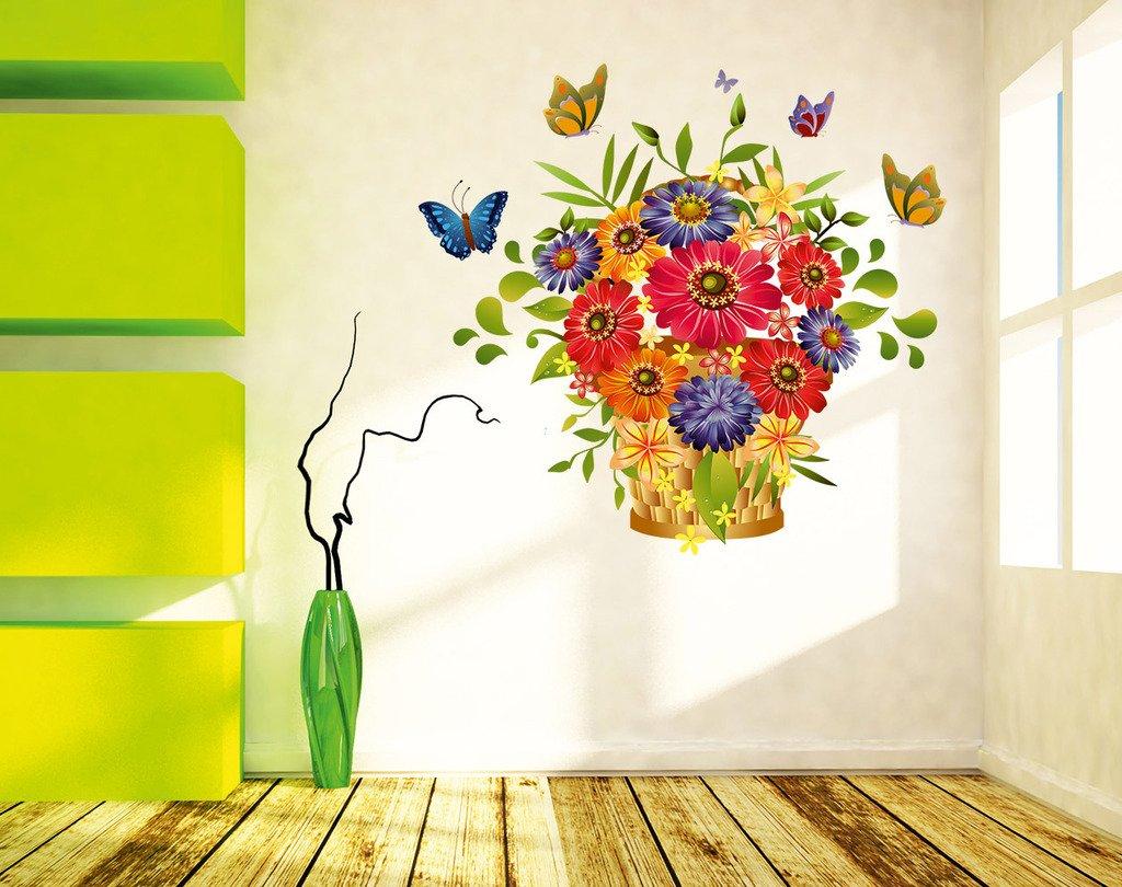 Buy Decals Design \'Flowers Beautiful Bouquet\' Wall Sticker (PVC ...