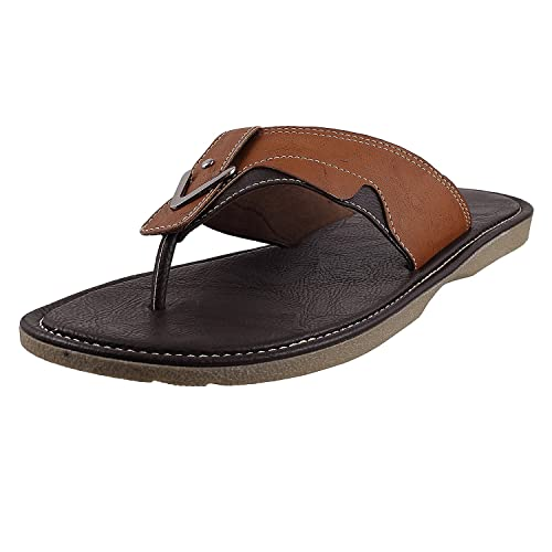 46a04f70df13f Metro Men s Tan Leather Hawaii Thong Sandals - 11 UK (16-8201)  Buy ...
