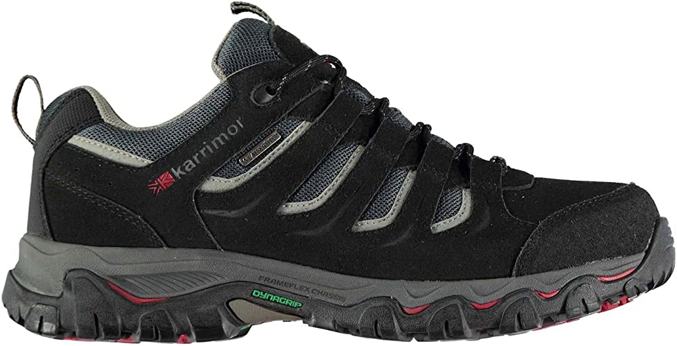 Mens Hiking Trainers Leather Lace Up Walking Trail Waterproof Shoes Size