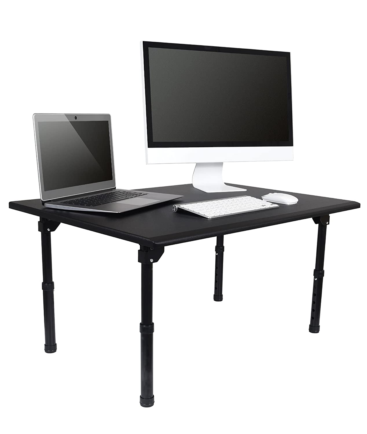 amazon com adjustable height standing desk w folding legs convert rh amazon com folding standing desk uk folding standing laptop desk