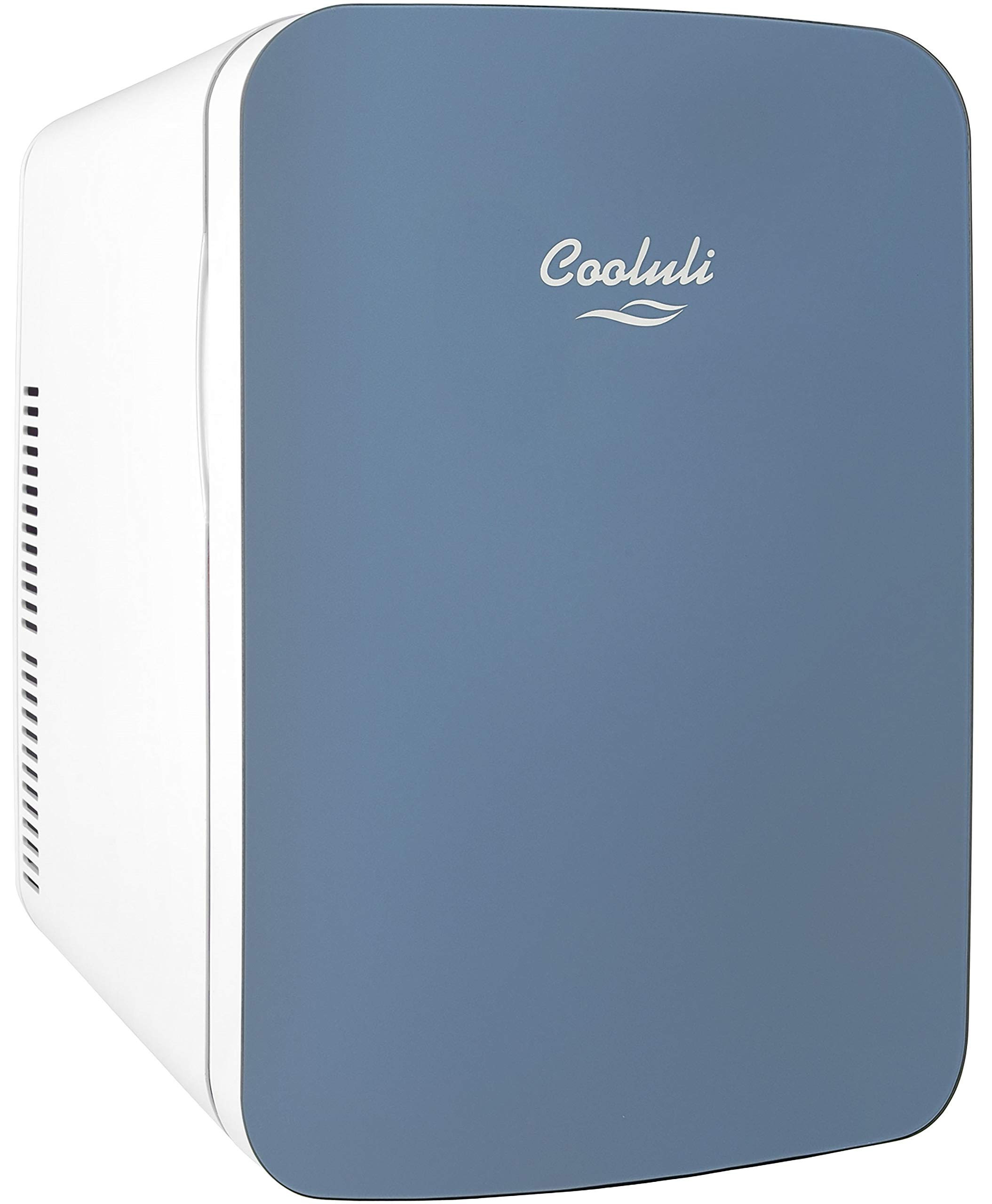 Cooluli Infinity 15-liter Compact Cooler/Warmer Mini Fridge for Cars, Road Trips, Homes, Offices, and Dorms (Blue)