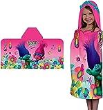 Trolls Poppy Hooded Towel Wrap Dreamworks Movie Girls Bath Towel