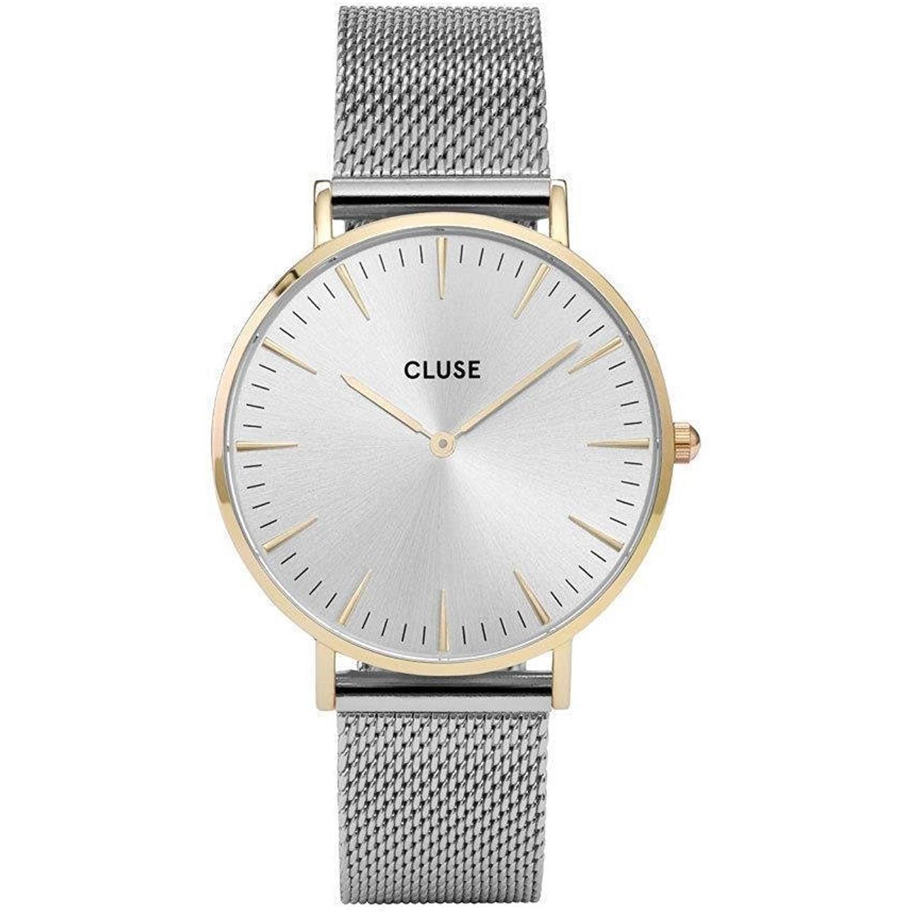 Amazon.com  CLUSE La Bohème Mesh Gold Silver CL18115 Women s Watch 38mm  Stainless Steel Strap Minimalistic Design Casual Dress Japanese Quartz  Elegant ... eeee643deba