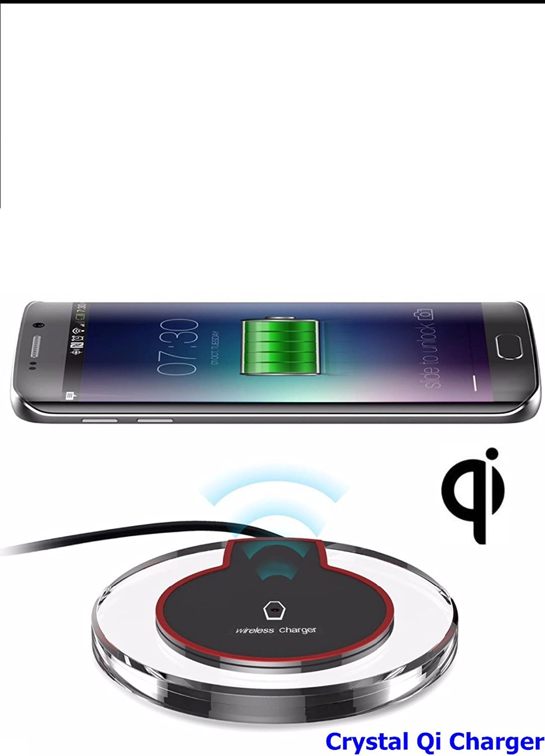 8//8Plus S8//S8 Plus Note8 S7 S7 Edge Note 5 S6 Edge White for Samsung Galaxy S9 Fantasy Wireless Charger Compatible with iPhone X QI Wireless Charging PAD