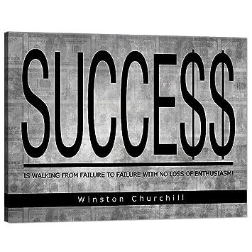 com success winston churchill motivational wall art