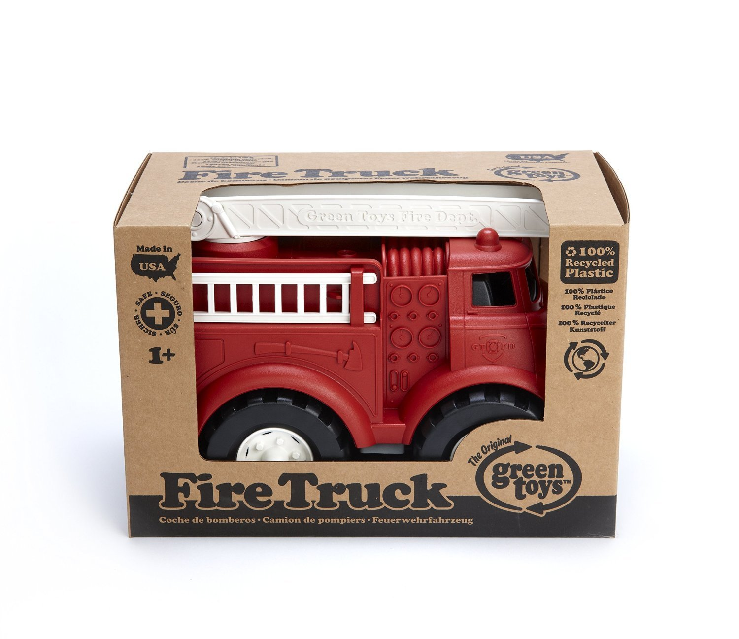 Amazon.com: Green Toys Fire Truck Vehicle Playsets Toy fot Kids, Red: Toys & Games