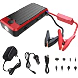 PowerAll PBJS12000R 400 Amp 12,000 mAh Portable Lithium Emergency Car Jump Starter, Power Bank and LED Flashlight