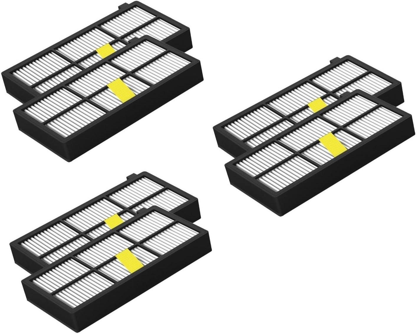 6 pack filtro HEPA para Aspiradora Roomba 860, 866, 870, 871, 880, 886, 890, 900, 960, 966, 970, 980, 990: Amazon.es: Hogar
