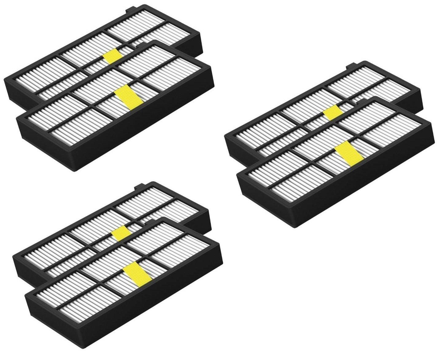 6Pack Filtro HEPA para iRobot Roomba la serie 800/900Er (870, 871, 880, 890, 980) Kniwelshop