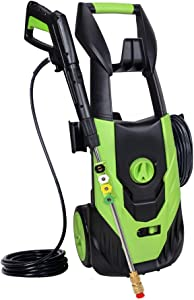 Zeccos 4500PSI 3.5GPM Electric Power Washer,Pressure Washer with 5 Quick-Connect Spray Tips and 20 Ft Pressure Hose, Washer Machine(Green)