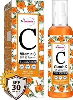 d5394838166 StBotanica Vitamin C SPF 30 PA+++ Sunscreen Mineral Based & Water  Resistant,120ml - UVA