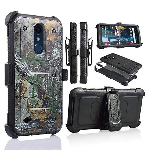 on sale 9b63f f1d0e for 5.3 Inch LG K30 Case,LG Premier Pro LTE Case, LG Phoenix Plus Phone  Case Cover with Screen Protector Clip Holster Kickstand Grip Sides Shock ...