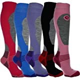 4 Pairs - HIGH PERFORMANCE ladies ski socks - long hose thermal socks