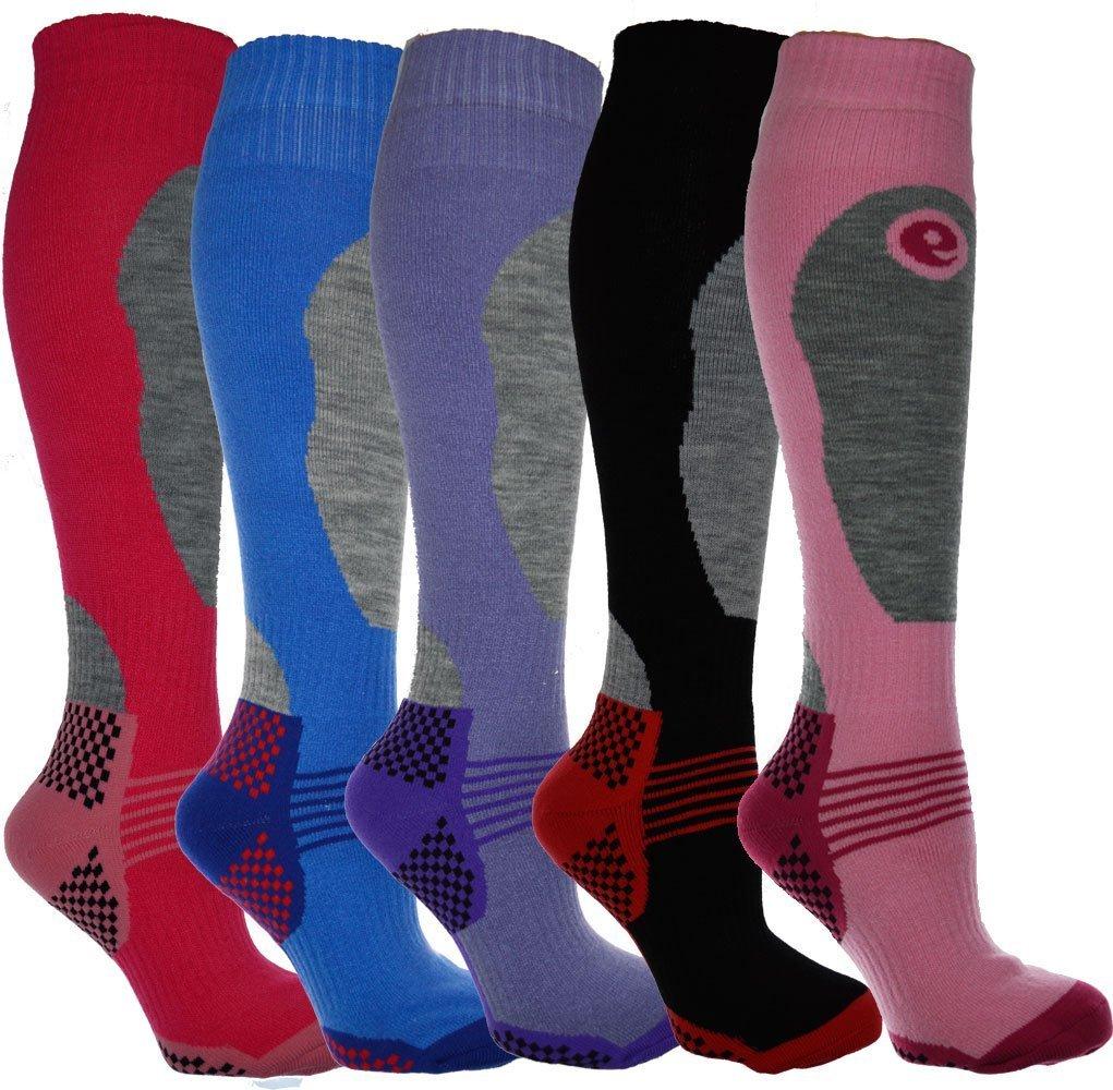4 Pairs - HIGH PERFORMANCE ladies ski socks - long hose thermal socks Doyime