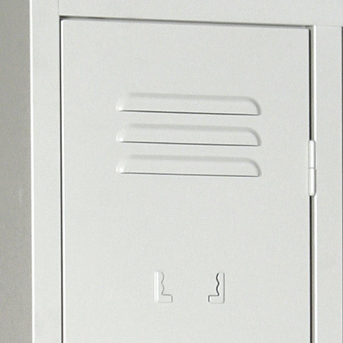 einfarbig RAL 7035 Abteilbreite 300 mm Lichtgrau 4 Abteile Protaurus Kleiderspind CLASSICO mit Sockel Sicherheitsdrehriegel