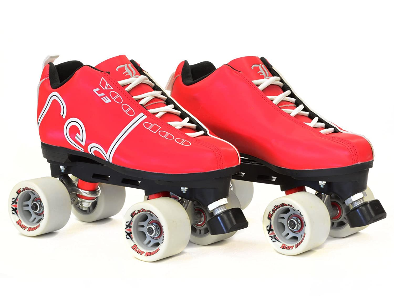 Roller skates red - Amazon Com Labeda Voodoo U3 Cardinal Red Quad Roller Derby Skates Sports Outdoors