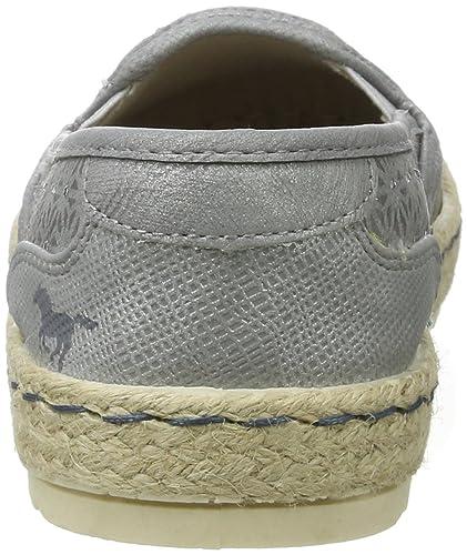 Mustang 1245-203 - Alpargata de Sintético Mujer, Color Gris, Talla 38 EU: Amazon.es: Zapatos y complementos