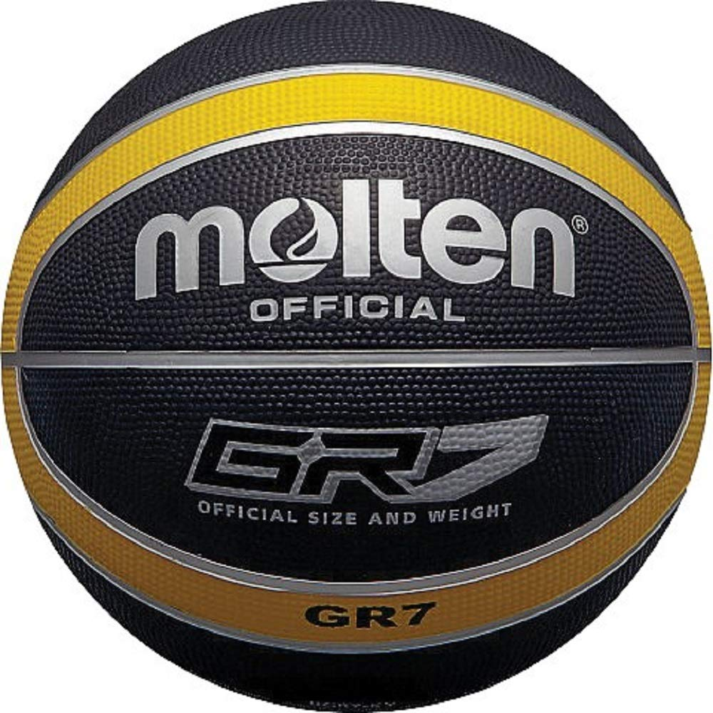 Molten Official Black/Yellow Rubber Basketball - Size 6