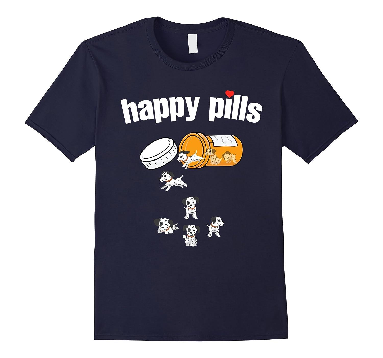 Dalmatian Happy Pills Tshirt-Art