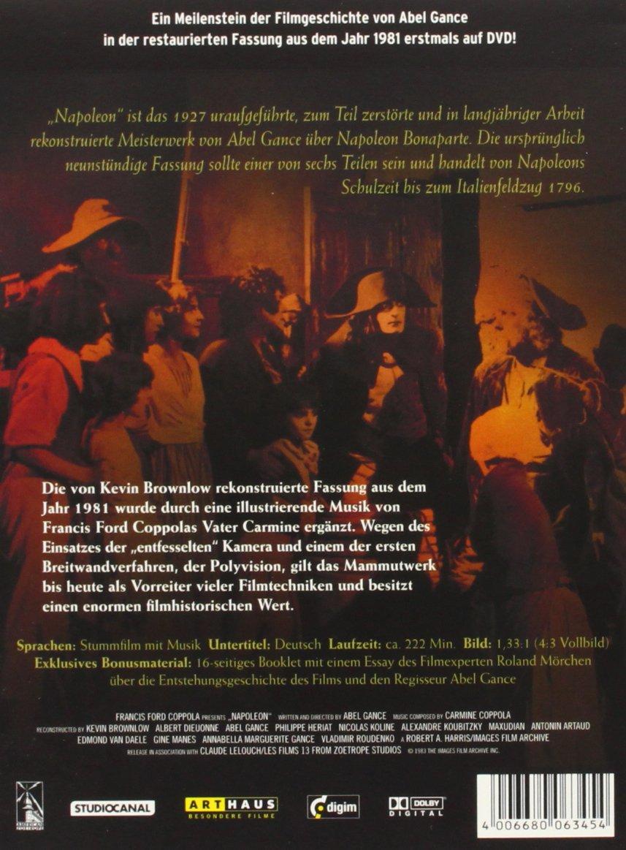 napoleon restaurierte fassung dvds de albert napoleon restaurierte fassung 2 dvds de albert dieudonneacute vladimir roudenko edmond daeumlle alexandre koubitzky antonin artaud gina manegraves
