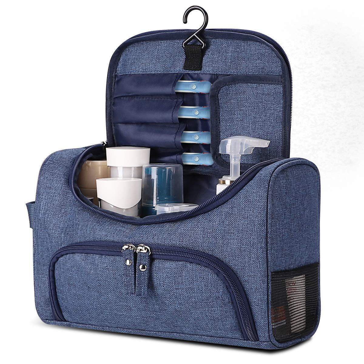 3c036e13b64 Details about Travel Toiletry Bag, KUSOOFA Toiletry Wash Bag, Hanging  Shower Bag, Shaving Bag