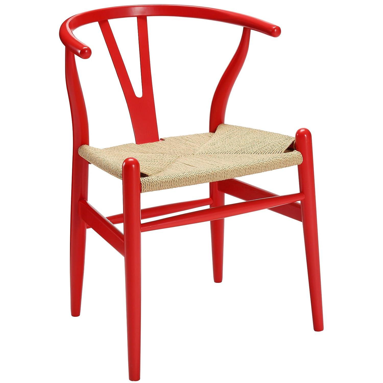 LexMod C24 Wishbone Chair in Walnut Amazon Home & Kitchen
