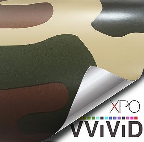 VViViD Woodland Camo vinyl car boat vehicle wrap 2ft x 5ft self adhesive stretch conform decal DIY VViViD Vinyls