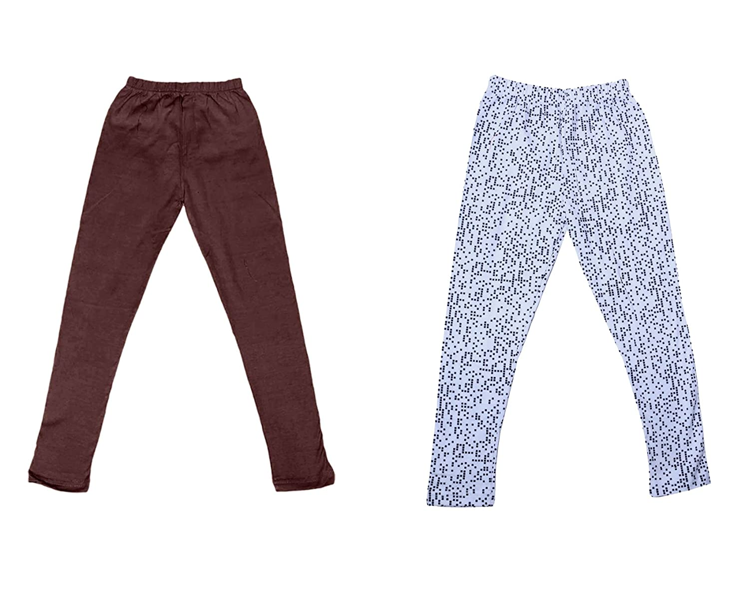 /_Multicolor/_Size-11-12 Years/_7141321-IW-P2-34 and 1 Cotton Printed Legging Pants Pack Of 2 Indistar Girls 1 Cotton Solid Legging Pants