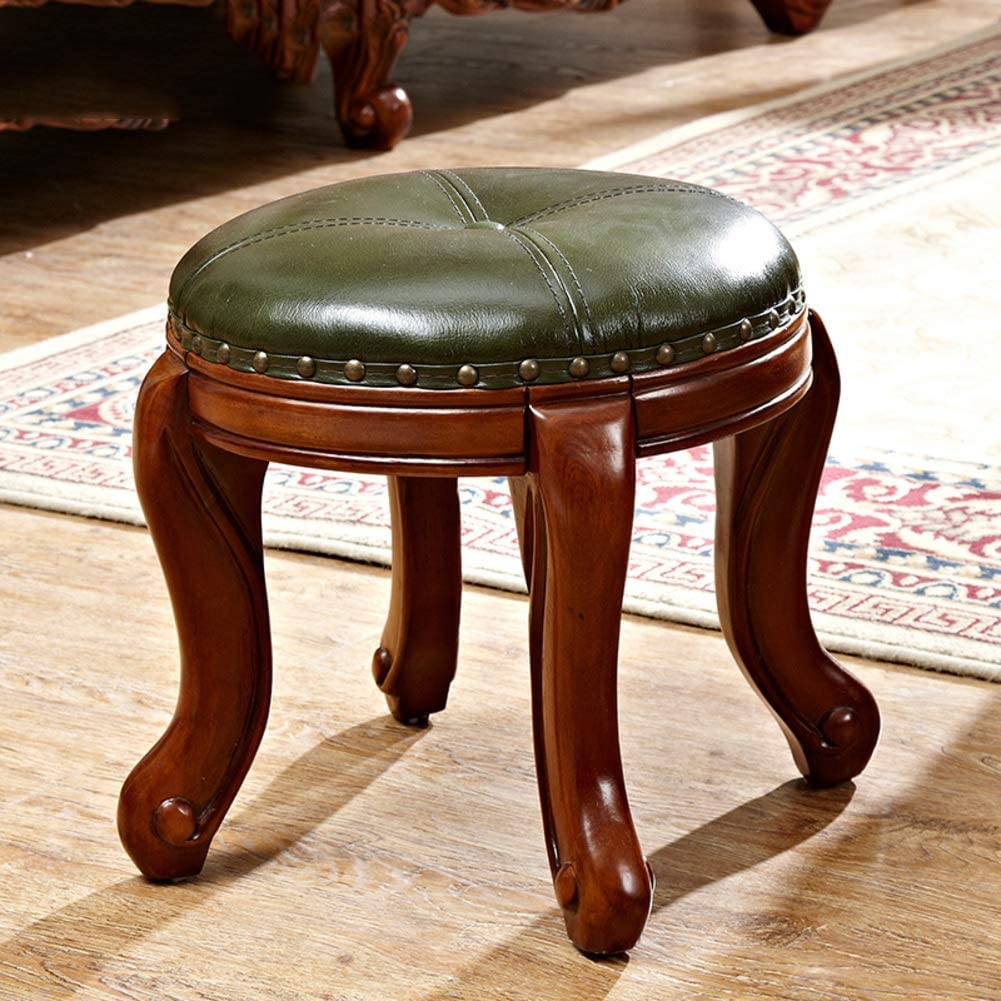 - Amazon.com: JRMU Household Solid Wood Footstool, 13.8x13.8x13.8