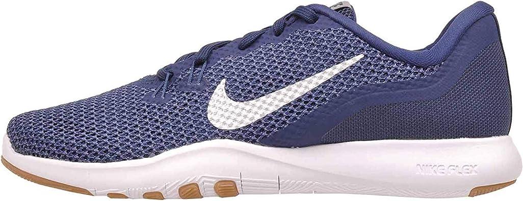Nike Flex Trainer 4 - Zapatillas de gimnasia para mujer, color azul marino, talla 38,5 EU: Amazon.es: Zapatos y complementos