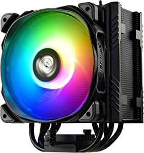 Enermax ETS-T50 Axe Addressable RGB CPU Air Cooler 230W+ TDP for Intel/AMD Univeral Socket 5 Direct Contact Heat Pipes 120mm PWM Fan Black: ETS-T50A-BK-ARGB