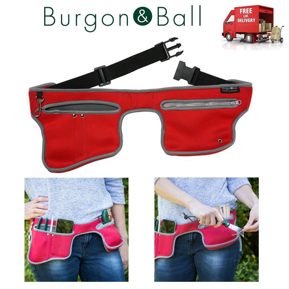 Burgon & Ball Poc-kit Gardeners Utility Belt Machine Washable Pockit Poppy Red B&BLtd