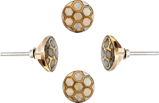30  x GOLDEN GOLD BEE VINTAGE DRAWER DOOR CUPBOARD KNOBS PULL Home Kitchen Gift