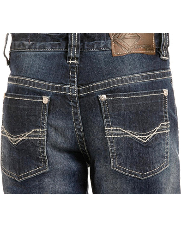 095a500a3 Amazon.com: Rock & Roll Cowboy Boys' and Bb Gun Reflex Silver Rivets Regular  Fit Boot Cut - Bb-3484: Clothing