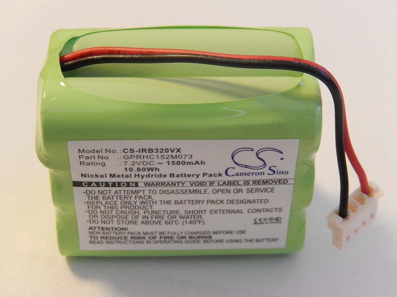 vhbw NiMH Batteria 1500mAh (7.2V) per Aspirapolvere iRobot Braava 320, 321 come GPRHC152M073. VHBW4251156587419