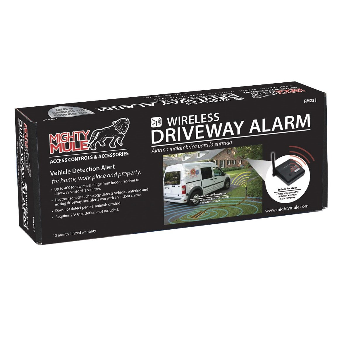GTO fm231 Alcance inalámbrico alarma Driveway, 400-ft ...