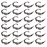 AmazonCommercial Safety Glasses (Gray/Black), Anti-scratch, 24-pack