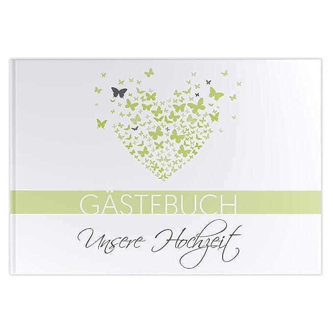 Gästebuch Hochzeit mit Fragen Hochzeitsgästebuch A4 100 Seiten Hardcover butterflyheart