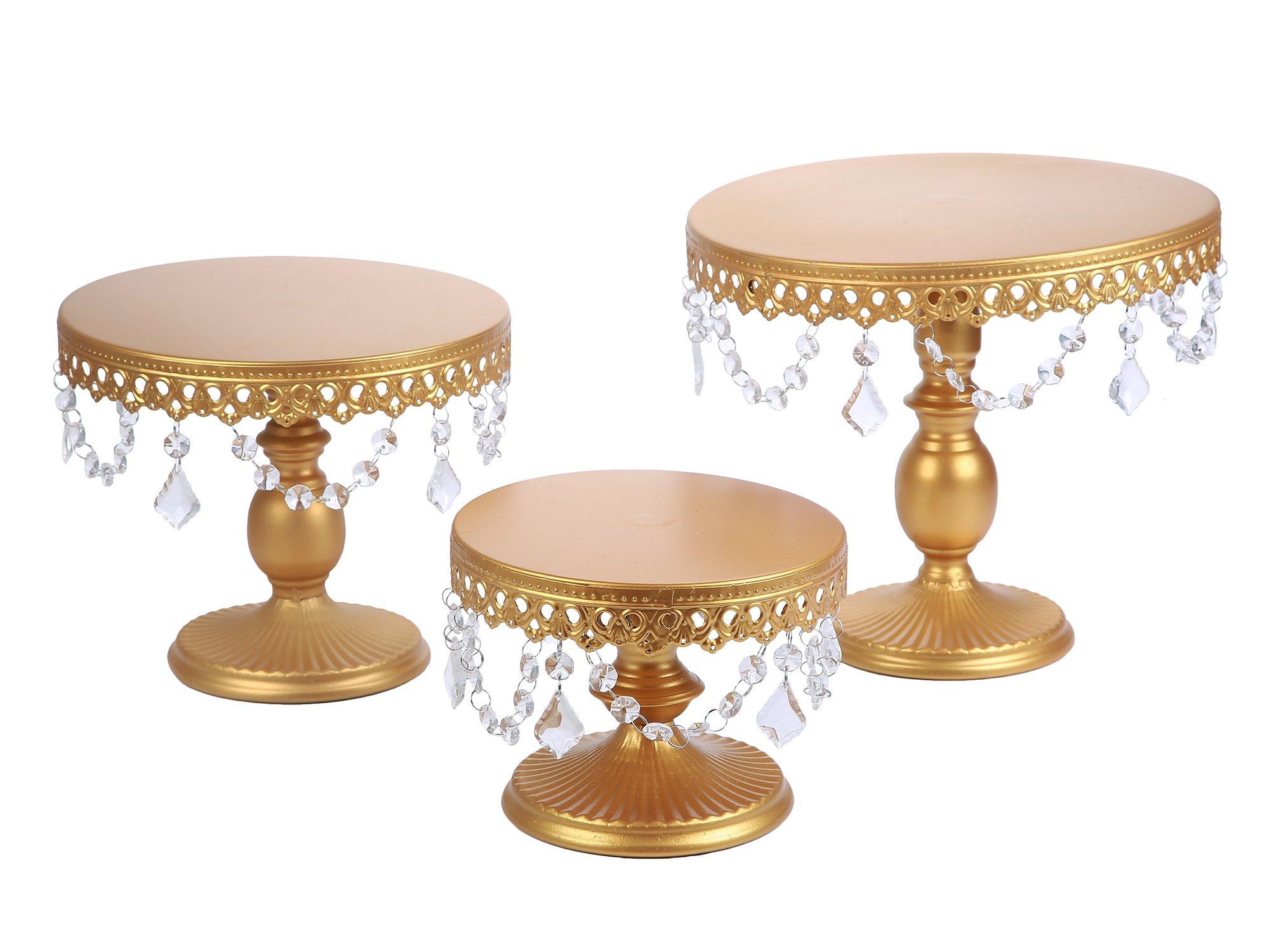 Cake Cupcake Stand 3 Set Server Wedding Shower Decorations Crystal ...