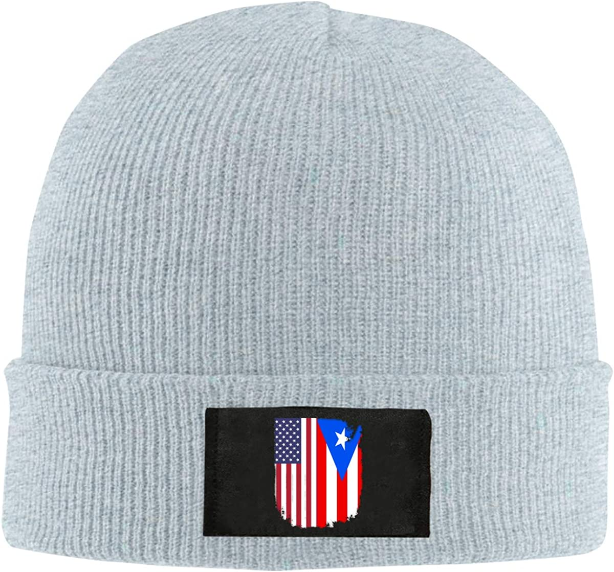 Puerto Rico American Flag Men Women Knitted Hat Comfortable Snowboarding Hat
