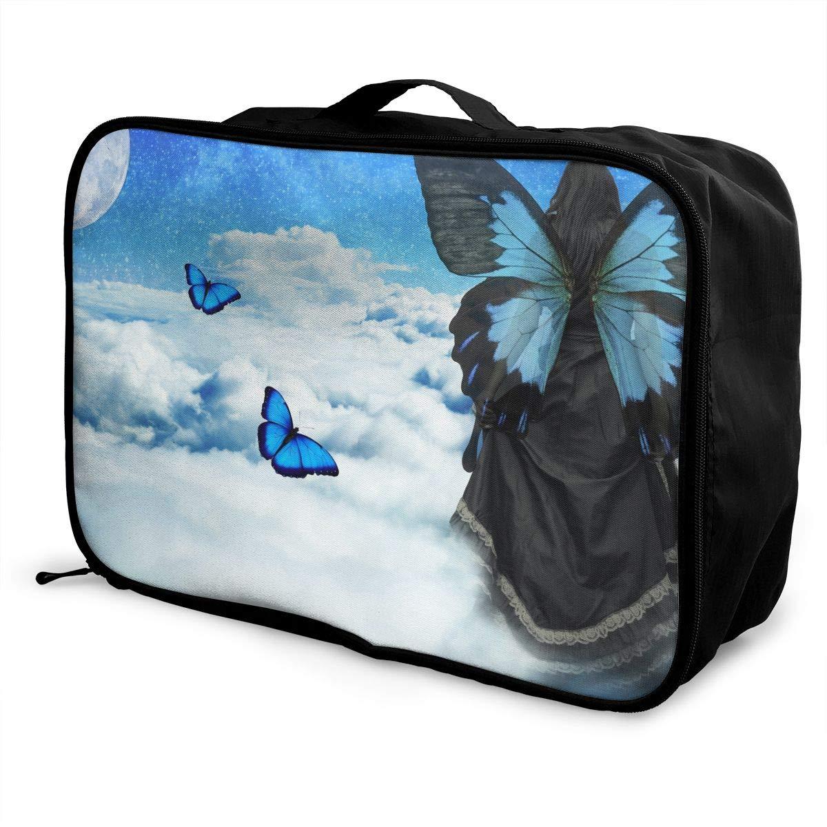 Travel Luggage Duffle Bag Lightweight Portable Handbag Fantasy Sky Butterfly Large Capacity Waterproof Foldable Storage Tote