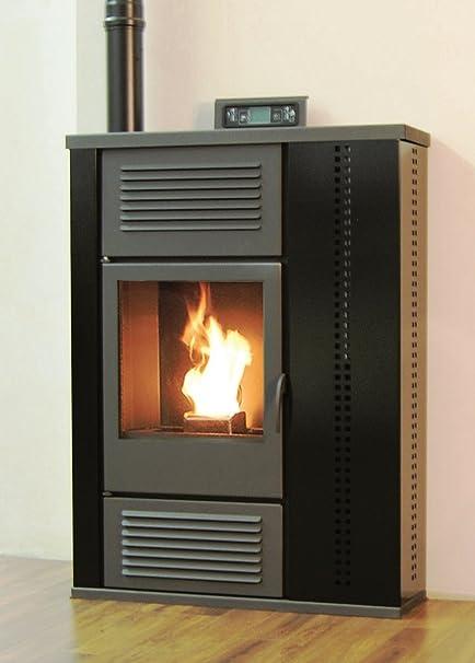 Palladio Scozia pellet estufa de 10 kW, colour negro