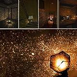 KOBWA Cadeau du Jour de Lampe de Projecteur Fantastique Celestial Science Star étoiles Lumineuses Romantique de Nuit de Lumière Ciel Projection de Projection
