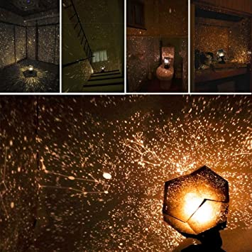 KOBWA Romantische Stern Nachtlichter DIY Projektor Nachtlampe Sternenhimmel  Schlafzimmer Dekoration Beleuchtung Gadget